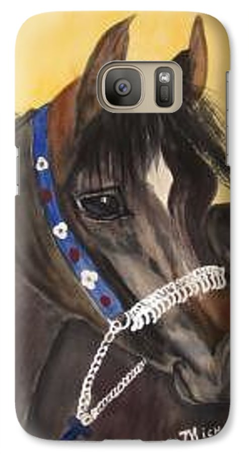 Arabian Horse Galaxy S7 Case featuring the painting Desert Dream by Michele Turney