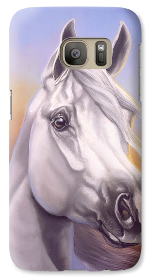 Arabian Galaxy S7 Case featuring the painting Desert Prince by Howard Dubois