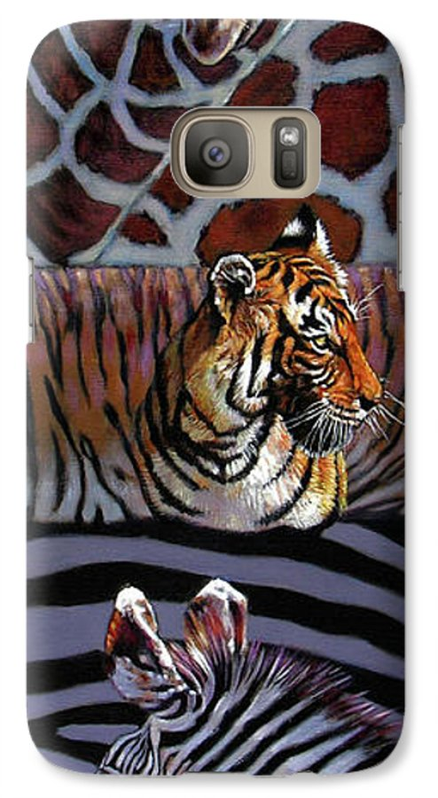 Animals Galaxy S7 Case featuring the painting Designs For Defense And Offense by John Lautermilch