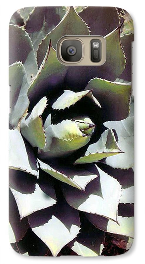 Flower Galaxy S7 Case featuring the photograph Dessert Agave by Margaret Fortunato