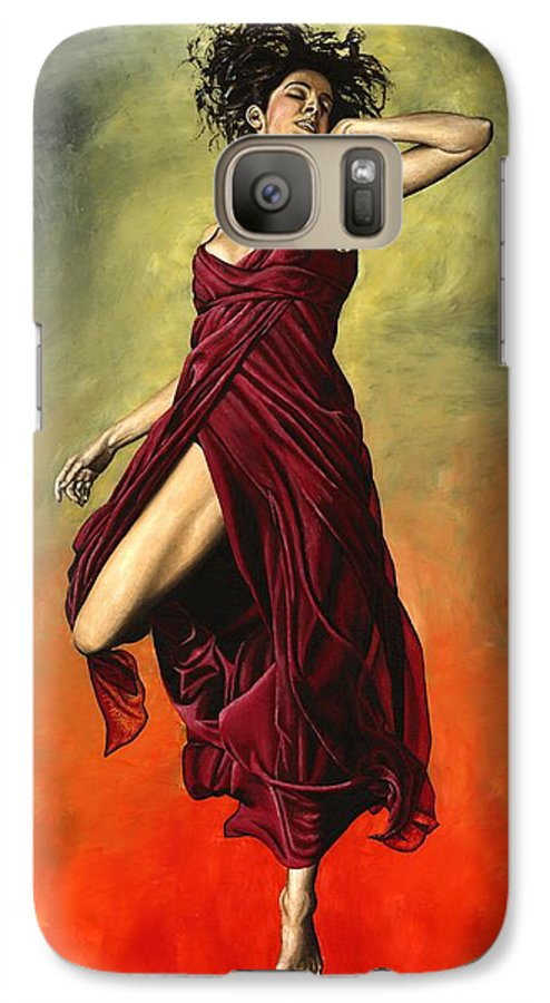 Dance Galaxy S7 Case featuring the painting Destiny's Dance by Richard Young