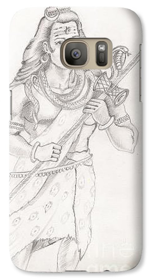 Lord Shiva Galaxy S7 Case featuring the painting Destroyer Of The Universe - Lord Shiva by Tanmay Singh