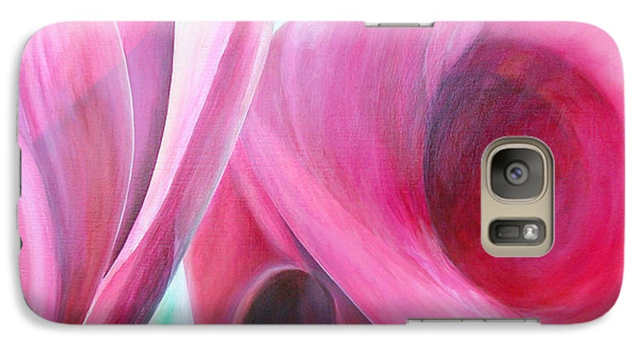 Fleurs Galaxy S7 Case featuring the painting Detail by Muriel Dolemieux