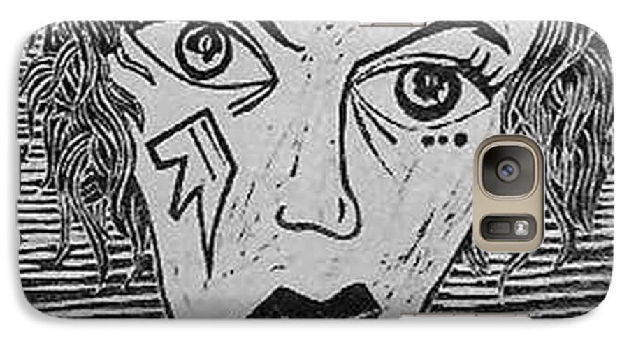Prints Galaxy S7 Case featuring the print Devil Print Two Out Of Five by Thomas Valentine