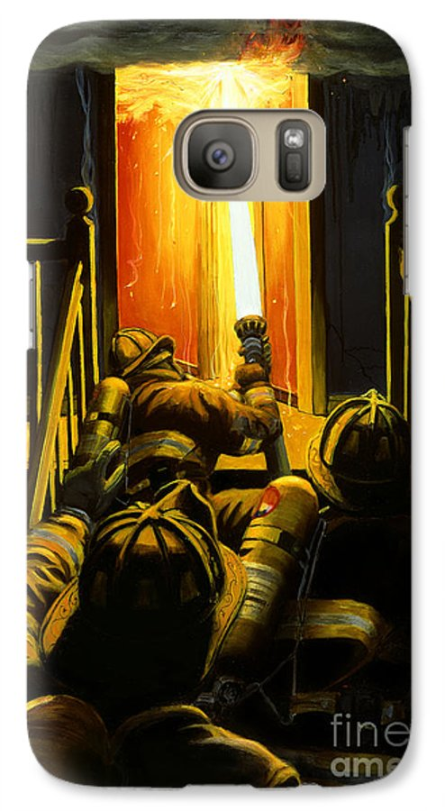 Firefighting Galaxy S7 Case featuring the painting Devil's Stairway by Paul Walsh