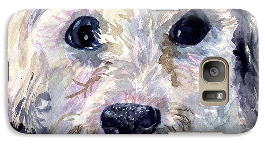 Bichon Frise Galaxy S7 Case featuring the painting Did You Say Lunch by Sharon E Allen