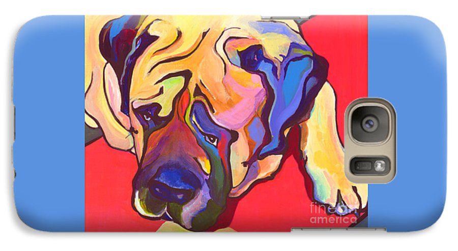 Mastiff Galaxy S7 Case featuring the painting Diesel  by Pat Saunders-White