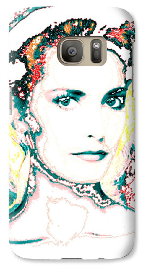 Digital Galaxy S7 Case featuring the digital art Digital Self Portrait by Kathleen Sepulveda