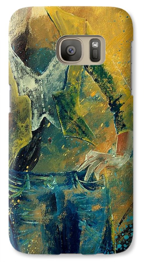 Woman Girl Fashion Galaxy S7 Case featuring the painting Dinner Jacket by Pol Ledent