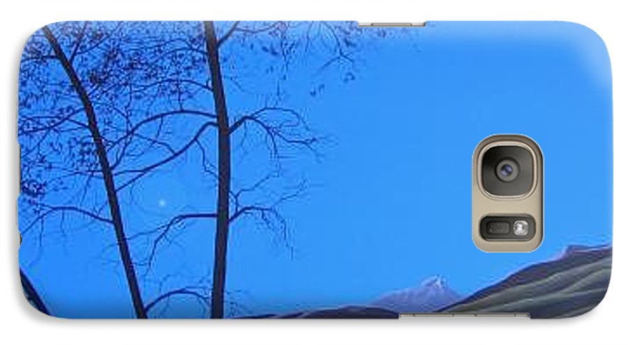 Mountains Galaxy S7 Case featuring the painting Distant Sun by Hunter Jay