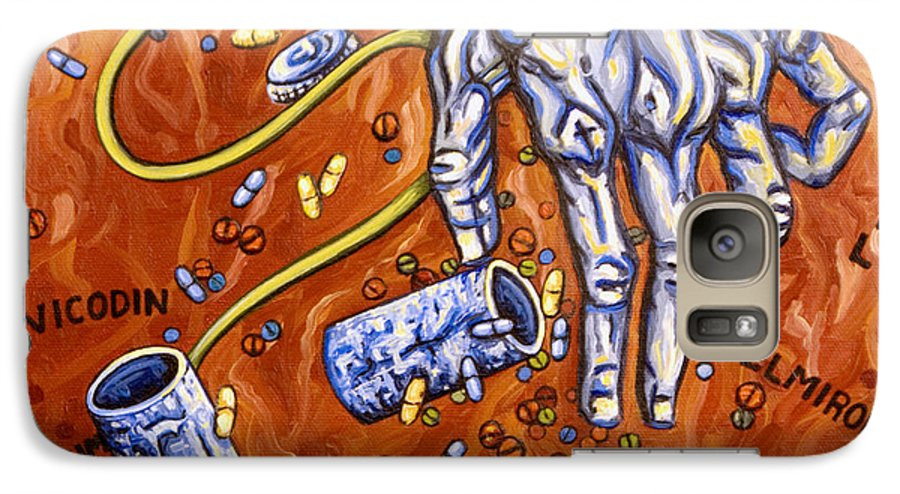 Pain Galaxy S7 Case featuring the painting Dmso by Judy Henninger