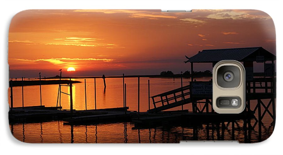 Dock Galaxy S7 Case featuring the photograph Dock Of The Bay by Debbie May