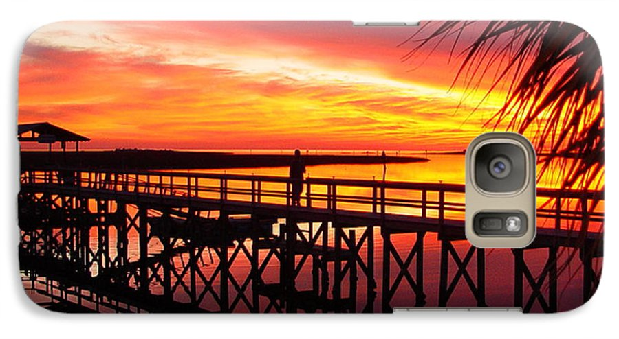 Palms Galaxy S7 Case featuring the photograph Docking It by Debbie May