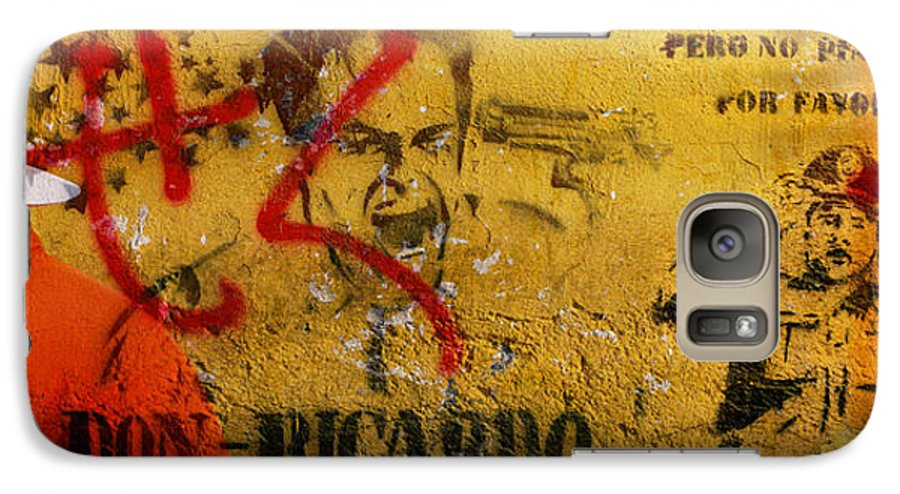 Grafitti Galaxy S7 Case featuring the photograph Don-ricardo by Skip Hunt