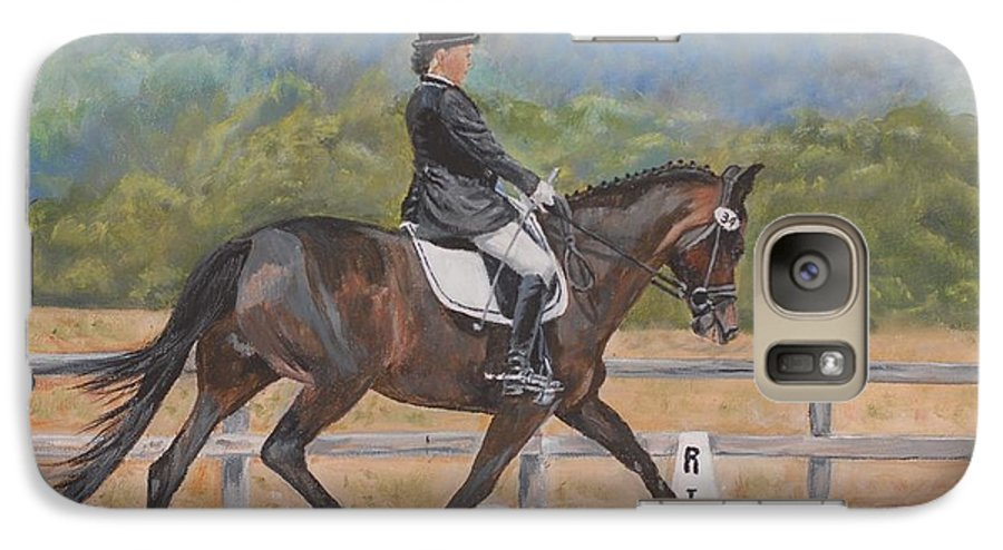 Horse Galaxy S7 Case featuring the painting Donnerlittchen by Quwatha Valentine