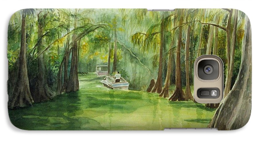 Passage Between Lakes Galaxy S7 Case featuring the painting Dora Passage by Judy Swerlick