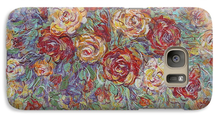Flowers Galaxy S7 Case featuring the painting Double Delight. by Natalie Holland