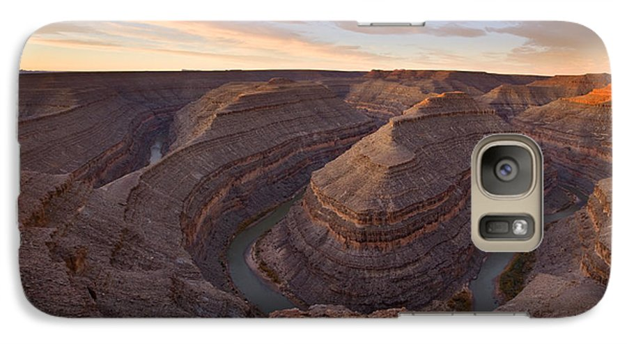 Goosenecks State Park Galaxy S7 Case featuring the photograph Doubleback by Mike Dawson