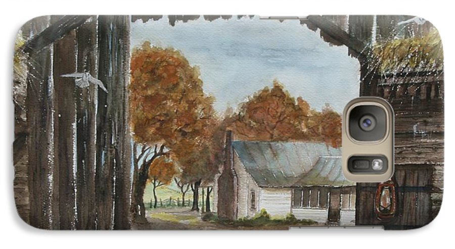 Grandpa And Grandma's Homeplace Galaxy S7 Case featuring the painting Down Home by Ben Kiger