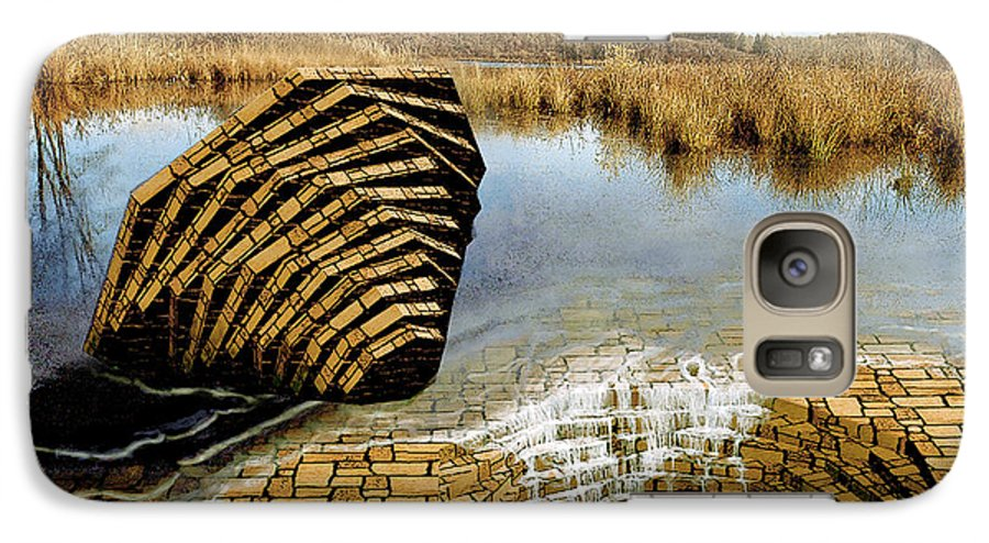 Drain Galaxy S7 Case featuring the digital art Drain - Mendon Ponds by Peter J Sucy