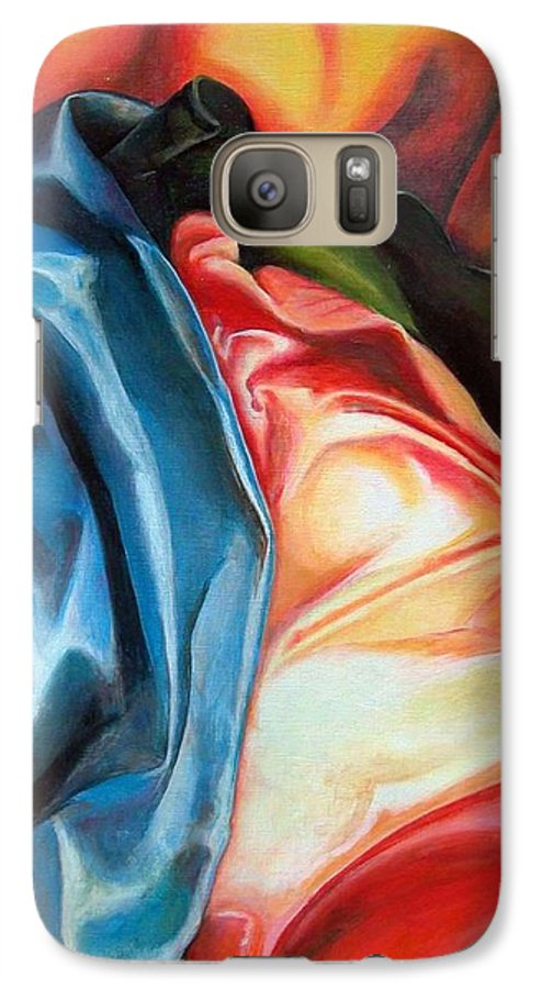 Drap Galaxy S7 Case featuring the painting Drape by Muriel Dolemieux