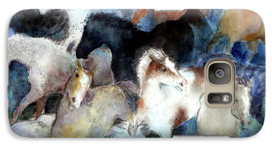 Horses Galaxy S7 Case featuring the painting Dream Of Wild Horses by Christie Michelsen