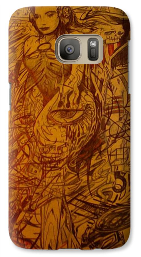 Chaos Galaxy S7 Case featuring the drawing Dream by Will Le Beouf