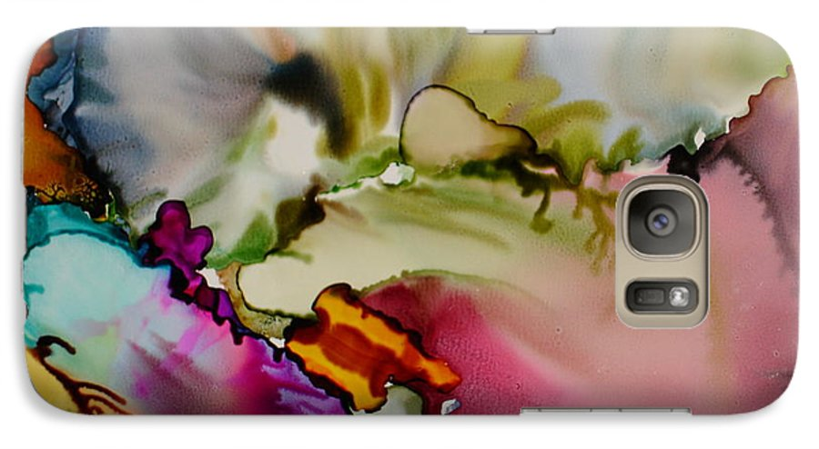 Abstract Galaxy S7 Case featuring the painting Dreaming by Susan Kubes