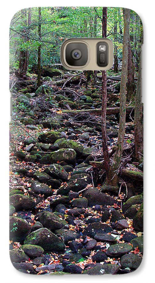 River Galaxy S7 Case featuring the photograph Dry River Bed- Autumn by Nancy Mueller