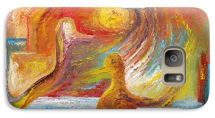 Duck Galaxy S7 Case featuring the painting Duck The Alchemist by Karina Ishkhanova