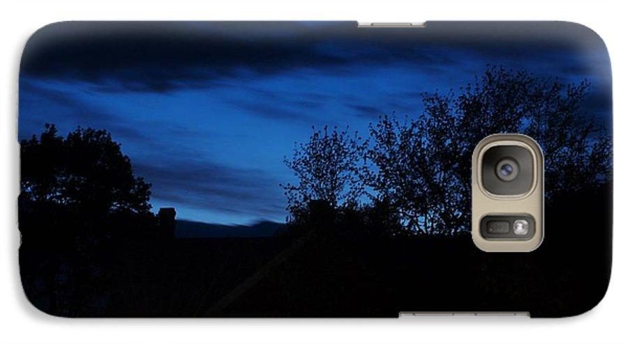 Silhouette Galaxy S7 Case featuring the photograph Dusk by Faith Harron Boudreau