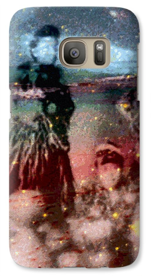 Tropical Interior Design Galaxy S7 Case featuring the photograph E Ola Ana No by Kenneth Grzesik