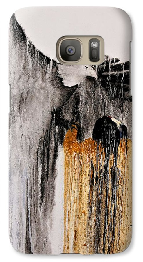 Natives Galaxy S7 Case featuring the painting Eagle Spirit by Patrick Trotter