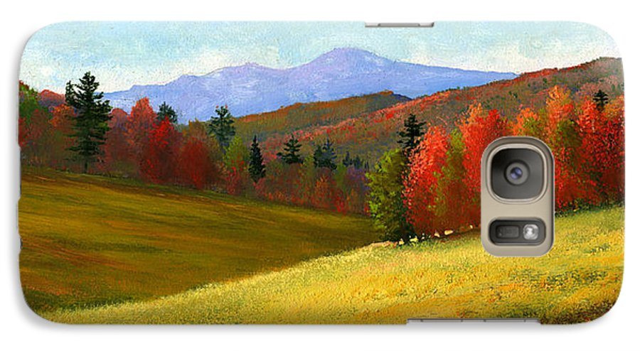 Landscape Galaxy S7 Case featuring the painting Early October by Frank Wilson