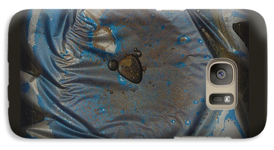 Space Galaxy S7 Case featuring the painting Earth...the Final Spin by Rick Silas