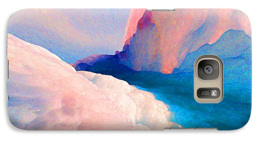 Abstract Galaxy S7 Case featuring the photograph Ebb And Flow by Steve Karol