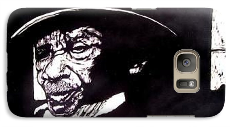 Galaxy S7 Case featuring the mixed media Ebenezer by Chester Elmore
