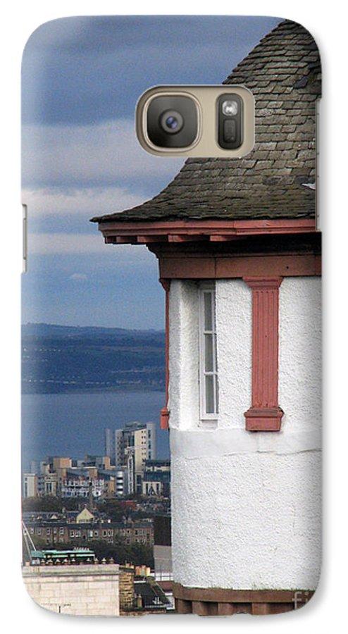 Scotland Galaxy S7 Case featuring the digital art Edinburgh Scotland by Amanda Barcon