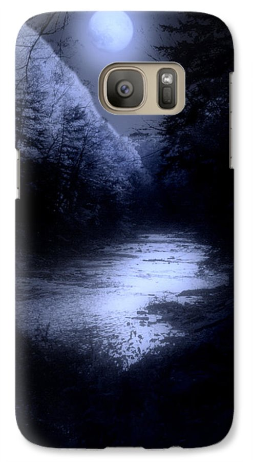 Moon Galaxy S7 Case featuring the photograph Eerie Tranquility by Kenneth Krolikowski