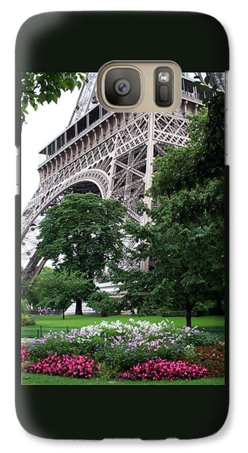 Eiffel Galaxy S7 Case featuring the photograph Eiffel Tower Garden by Margie Wildblood