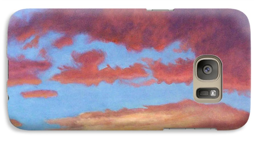 Sunset Galaxy S7 Case featuring the painting El Dorado Sunset by Brian Commerford