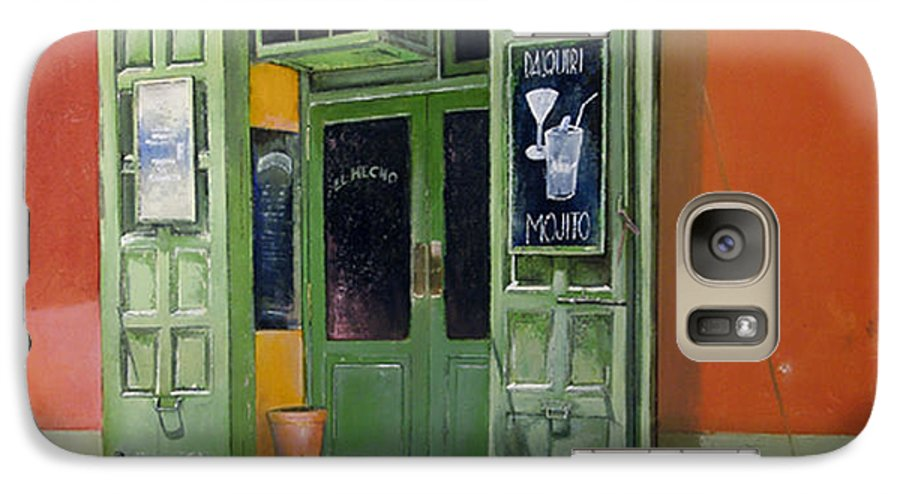 Hecho Galaxy S7 Case featuring the painting El Hecho Pub by Tomas Castano