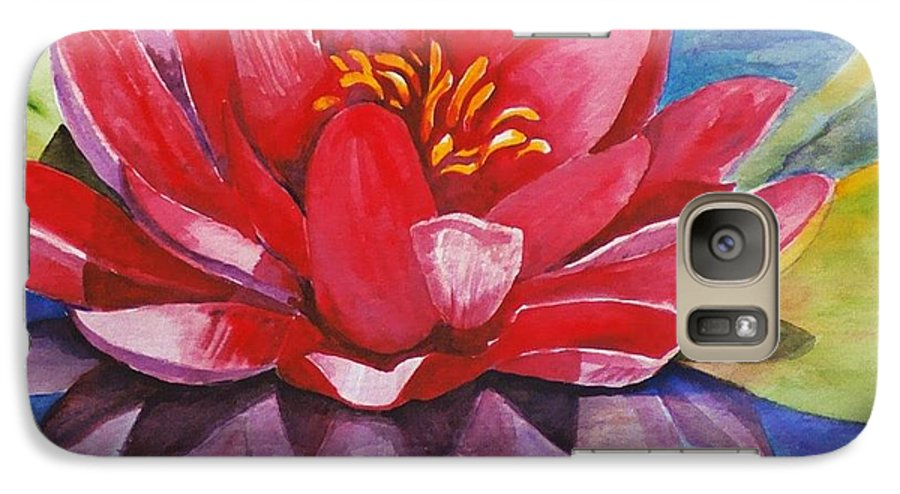Lily Galaxy S7 Case featuring the painting Ela Lily by Jun Jamosmos
