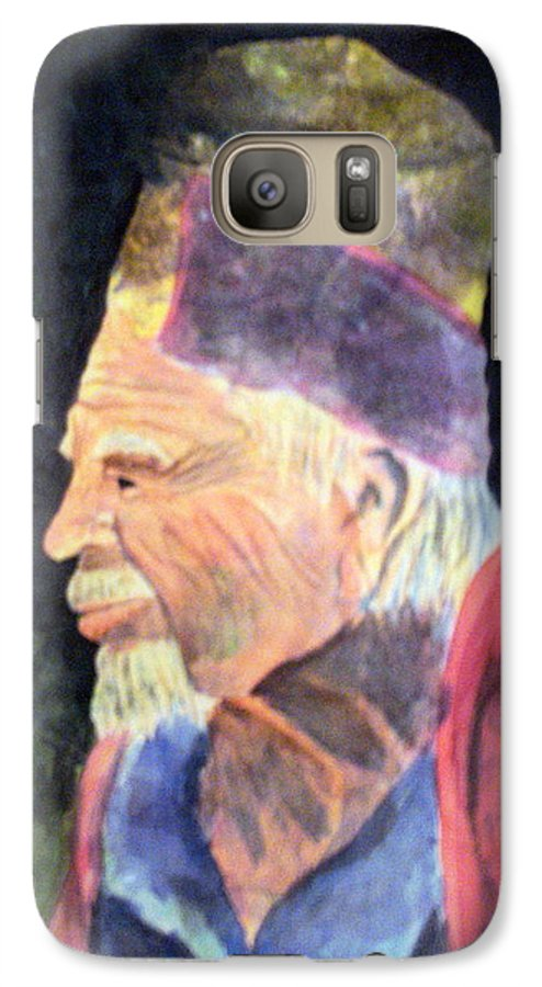 Elder Galaxy S7 Case featuring the painting Elder by Susan Kubes