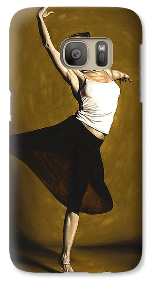 Elegant Galaxy S7 Case featuring the painting Elegant Dancer by Richard Young