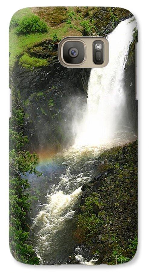 Rainbow Galaxy S7 Case featuring the photograph Elk Creek Falls Rainbow by Idaho Scenic Images Linda Lantzy