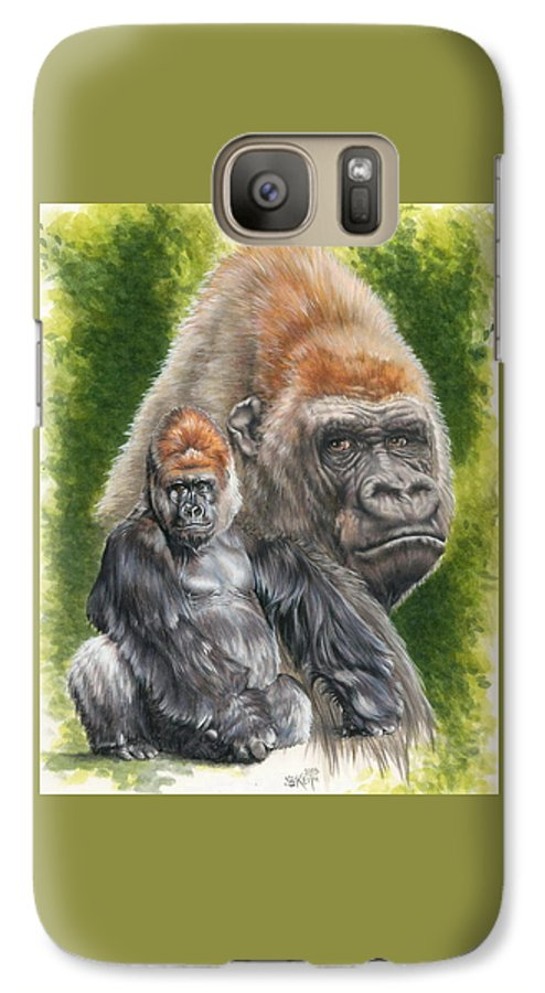 Gorilla Galaxy S7 Case featuring the mixed media Eloquent by Barbara Keith