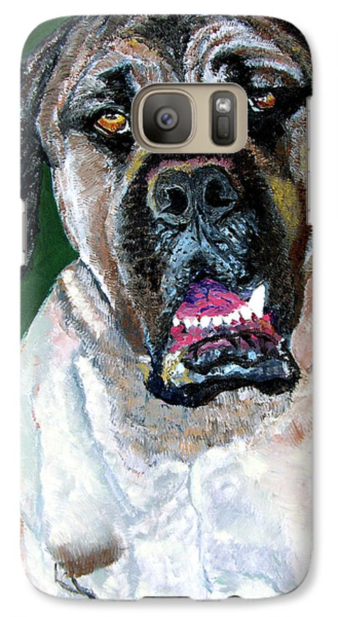 Dog Portrait Galaxy S7 Case featuring the painting Ely by Stan Hamilton