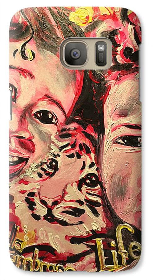 Children Galaxy S7 Case featuring the painting Embrace Life by Sean Ivy aka Afro Art Ivy