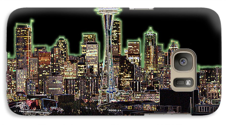Colorful Galaxy S7 Case featuring the photograph Emerald City by Larry Keahey